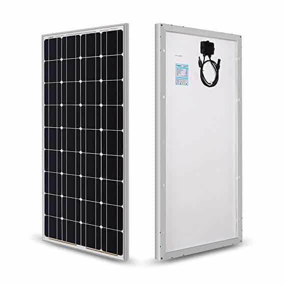 Renogy Monocrystalline Solar Panel (100 Watts 12 Volts)