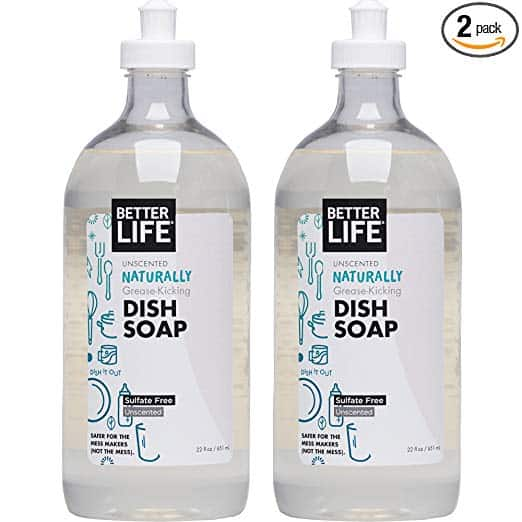 Better Life Natural Dish Soap, Unscented