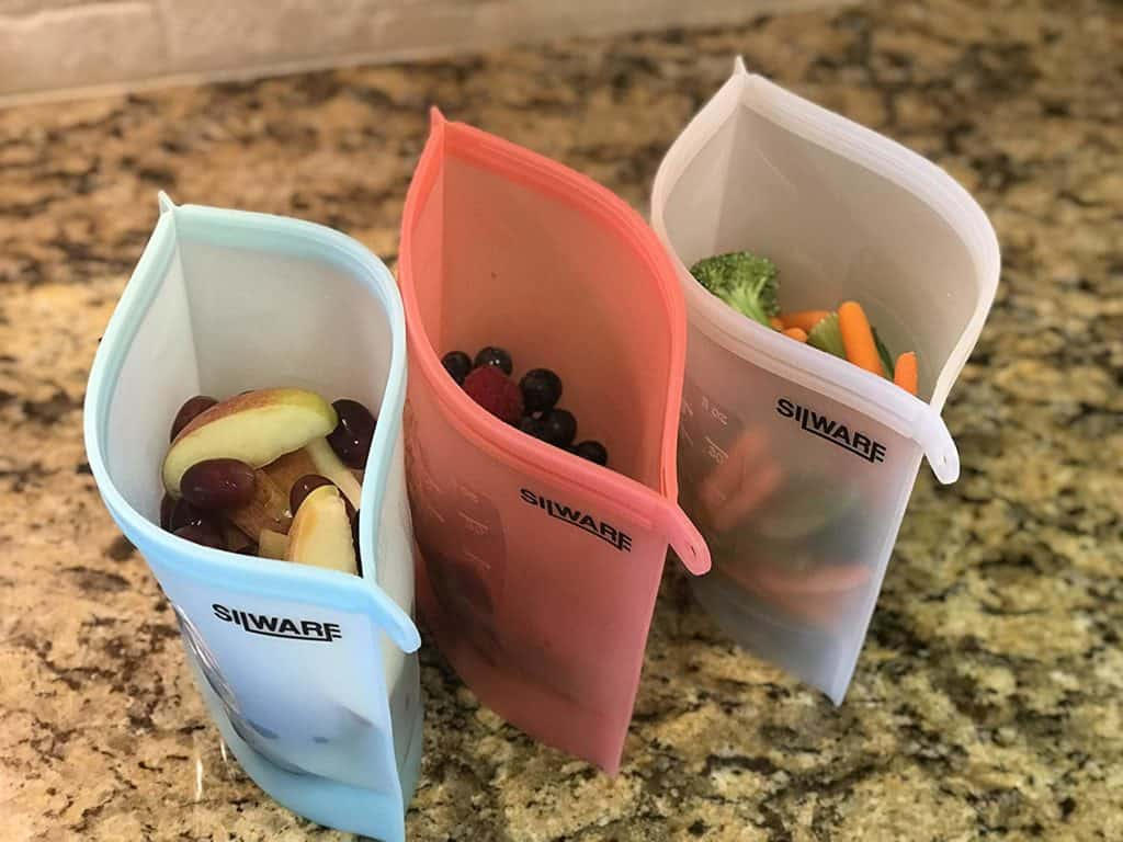 Silware Reusable Silicone Food Storage Bags