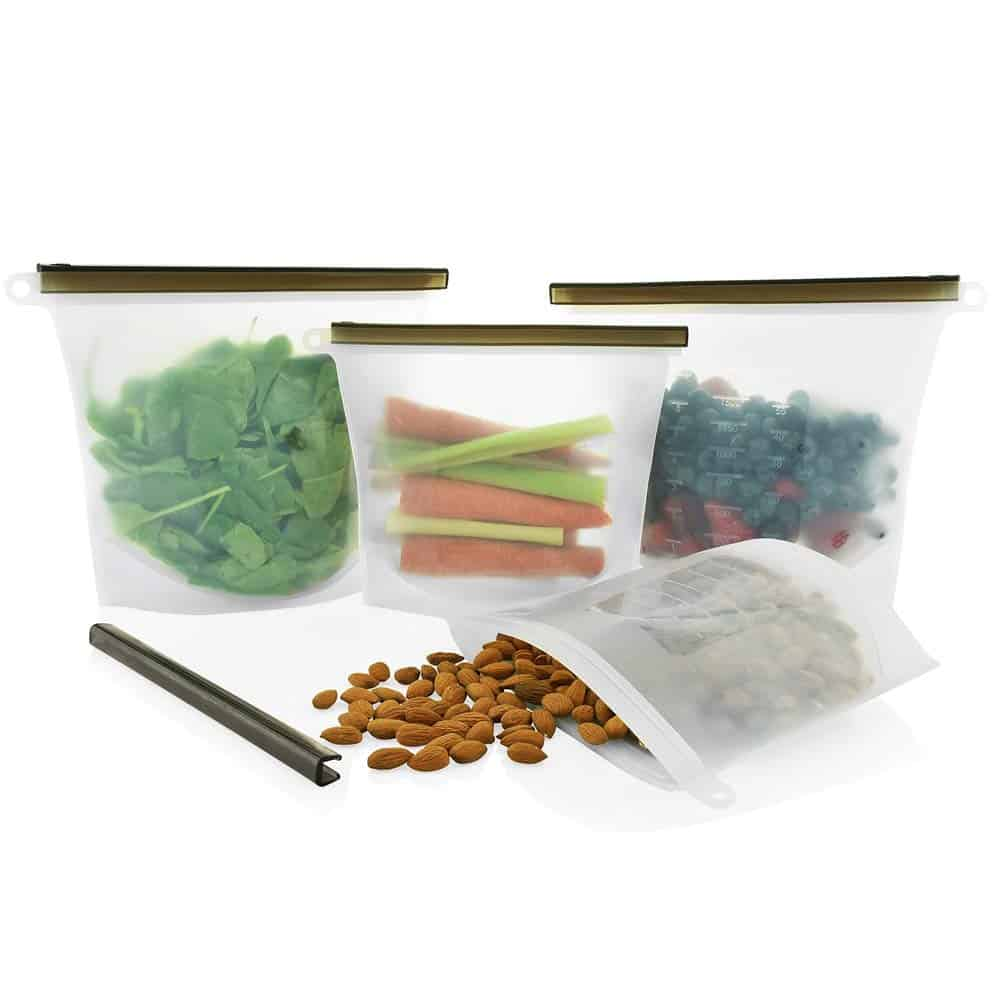 Reusable Silicone Food Storage Bags by Nuku