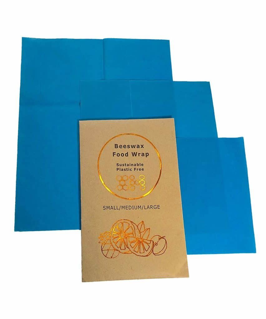 Beeswax Wraps Food Storage with Nature's Goodness-Non-Plastic Reusable Washable Kitchenware