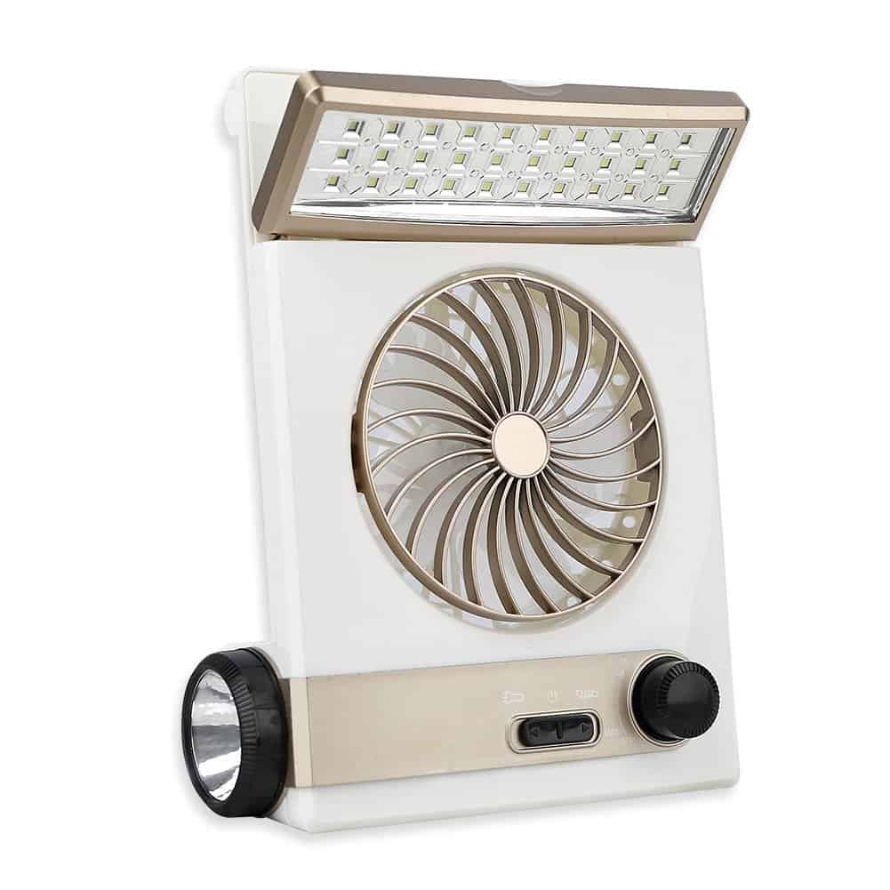 Multifunctional Rechargeable Portable LED Solar Light Fan with Eye-Care LED