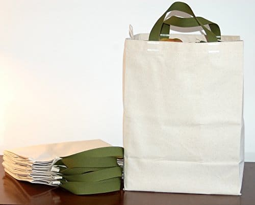 Reusable Canvas Grocery Tote Bags by Turtlecreek
