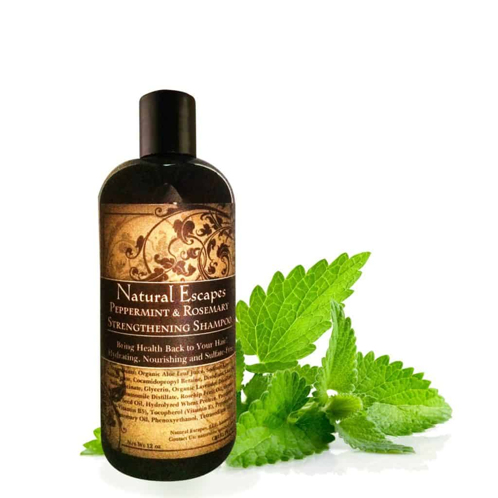 Peppermint and Rosemary Strengthening Shampoo by Natural Escapes