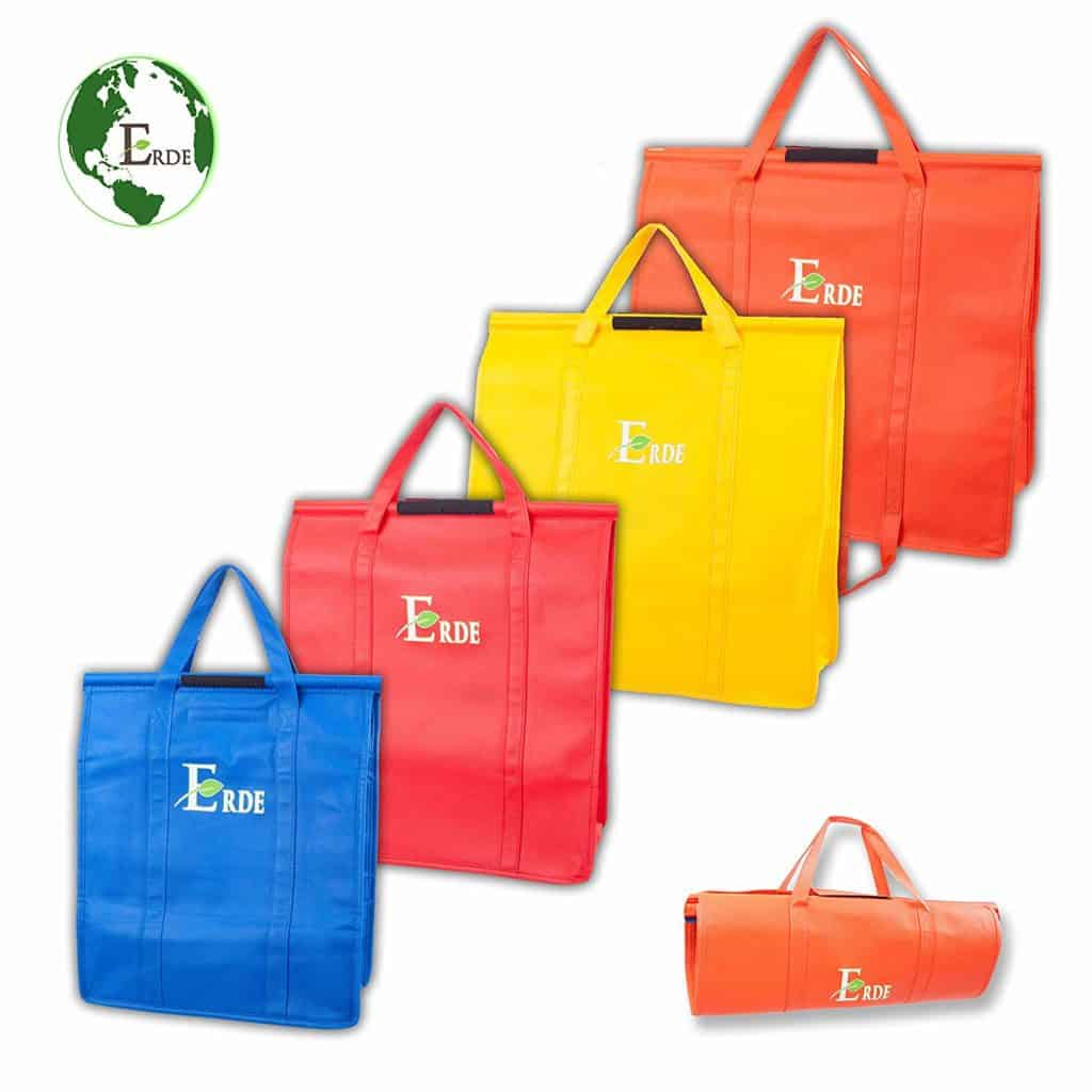 Premium Quality Reusable Shopping Bags by Erde