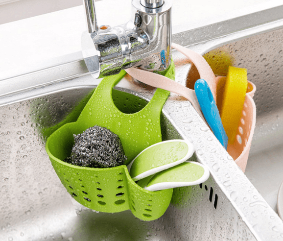 Eco - friendly hanging kitchen baskets