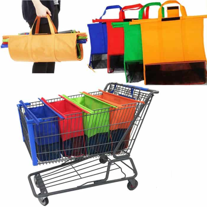 Reusable Shopping Trolley Bags (Set of 4)